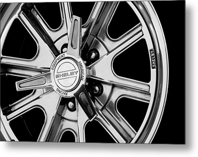 1968 Ford Mustang Fastback 427 Shelby Cobra Wheel Metal Print by Jill Reger