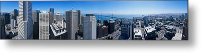 360 Degree View Of A City, Rincon Hill Metal Print by Panoramic Images