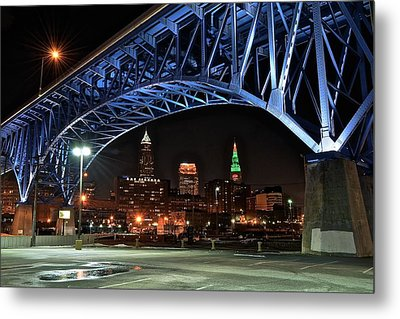 A Cleveland Night Metal Print by Frozen in Time Fine Art Photography