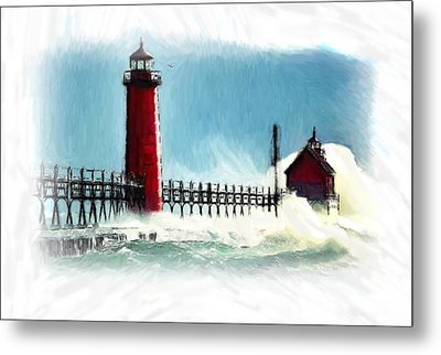 A Day At The Coast Metal Print by Steve K