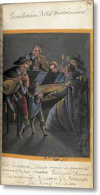 A Group Of Musicians Metal Print by British Library