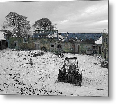 Abandoned To Nature Metal Print by David Birchall