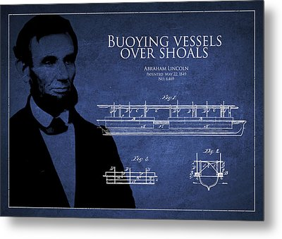 Abraham Lincoln Patent From 1849 Metal Print by Aged Pixel