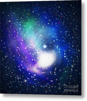 Abstract Galaxy Metal Print by Atiketta Sangasaeng