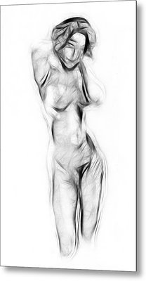 Abstract Nude Metal Print by Stefan Kuhn