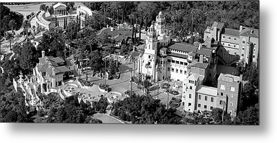Aerial View Of A Castle On A Hill Metal Print by Panoramic Images