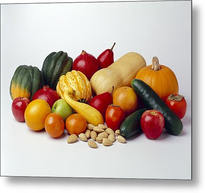 Agriculture - Autumn Fruits Metal Print by Ed Young