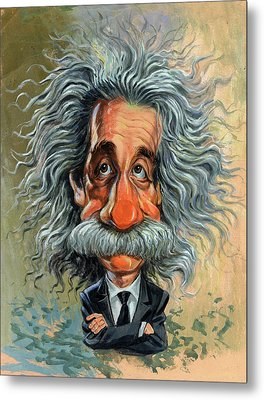 Albert Einstein Metal Print by Art