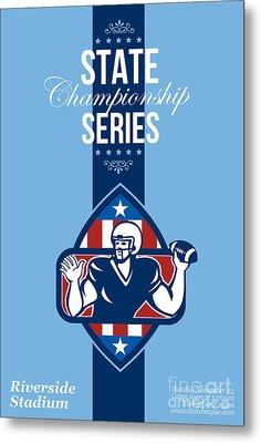 American Football State Championship Series Poster Metal Print by Aloysius Patrimonio