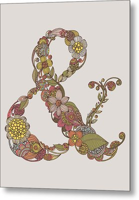 Ampersand Metal Print by Valentina
