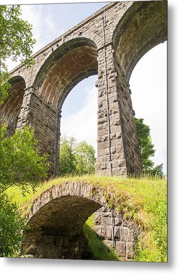 An Ancient Packhorse Bridge In Dentdale Metal Print by Ashley Cooper