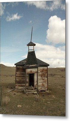 An Old Montana School House  Metal Print by Jeff Swan