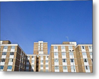 Apartments Metal Print by Tom Gowanlock