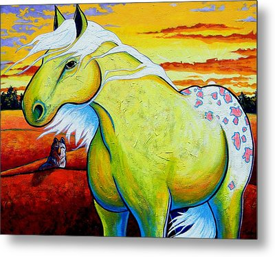 Appaloosa Dawn Metal Print by Joe  Triano