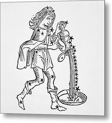 Aquarius An Illustration Metal Print by Italian School