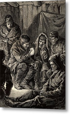 Arctic Expedition Led By John Franklin Metal Print by Universal History Archive/uig