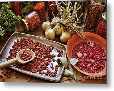 Assorted Spices Metal Print by Carlos Caetano