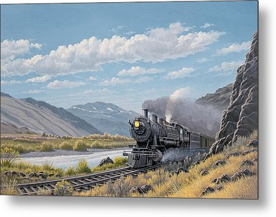 At Point Of Rocks-bound For Livingston Metal Print by Paul Krapf