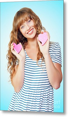 Attractive Young Teenage Girl In Love Metal Print by Jorgo Photography - Wall Art Gallery