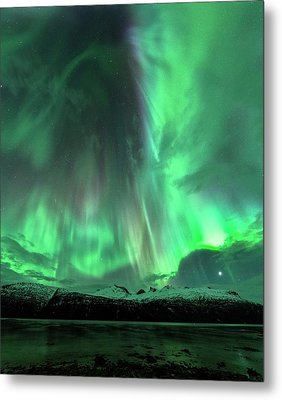 Aurora Borealis During Geomagnetic Storm Metal Print by Tommy Eliassen