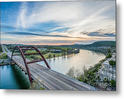 Austin 360 Bridge Sunset Metal Print by Tod and Cynthia Grubbs