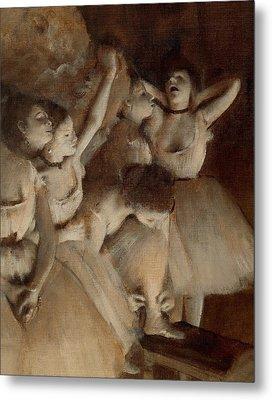 Ballet Rehearsal On Stage Metal Print by Edgar Degas