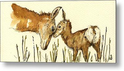 Bambi Deer Metal Print by Juan  Bosco
