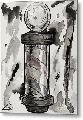 Barber Pole Metal Print by Chuck Styles