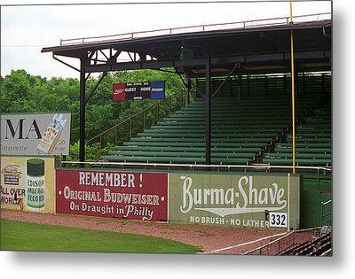 Baseball Field Burma Shave Sign Metal Print by Frank Romeo