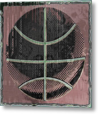 Basketball Abstract Metal Print by David G Paul