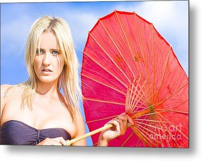 Beach Umbrella Metal Print by Jorgo Photography - Wall Art Gallery
