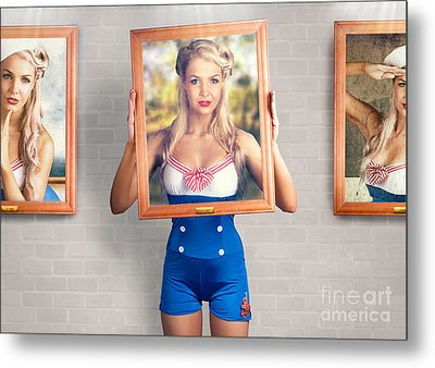 Beauty In The Art Of Picture Perfect Portrait Metal Print by Jorgo Photography - Wall Art Gallery