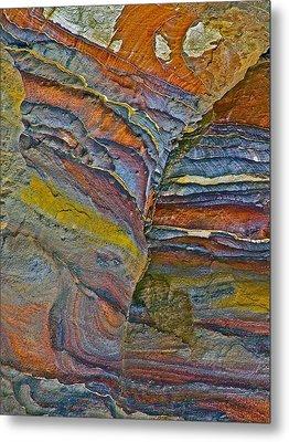 Belly Eyes Rock In Petra-jordan Metal Print by Ruth Hager