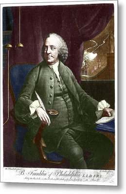 Benjamin Franklin Metal Print by Science Photo Library