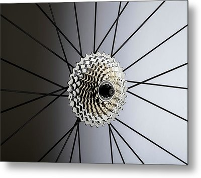 Bicycle Cassette Metal Print by Science Photo Library