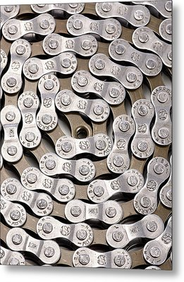 Bicycle Chain Metal Print by Science Photo Library