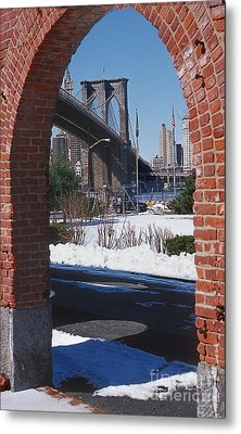 Bklyn Bridge Metal Print by Bruce Bain