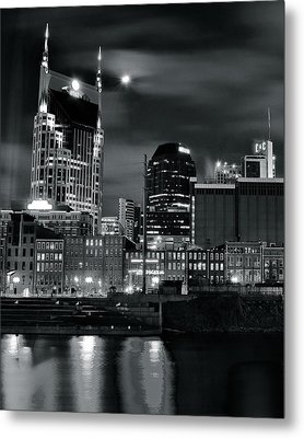 Black And White Nashville Metal Print by Frozen in Time Fine Art Photography
