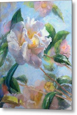 Blooming Flowers Metal Print by Nancy Stutes