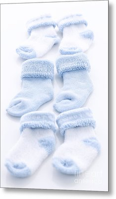 Blue Baby Socks Metal Print by Elena Elisseeva