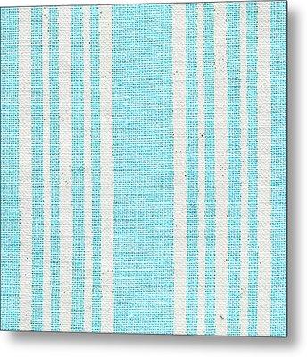 Blue Fabric Metal Print by Tom Gowanlock