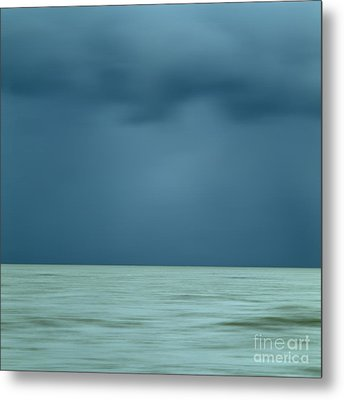 Blue Sea Metal Print by Bernard Jaubert