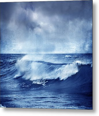 Blue Wave Metal Print by Guido Montanes Castillo
