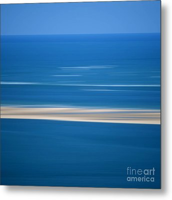 Blurred Sea Metal Print by Bernard Jaubert