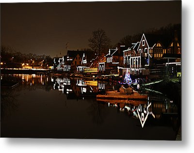Boathouse Row Lights Metal Print by Bill Cannon