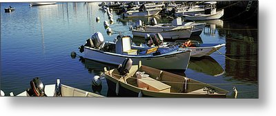 Boats At A Harbor, Provincetown, Cape Metal Print by Panoramic Images