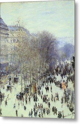 Boulevard Des Capucines Metal Print by Claude Monet