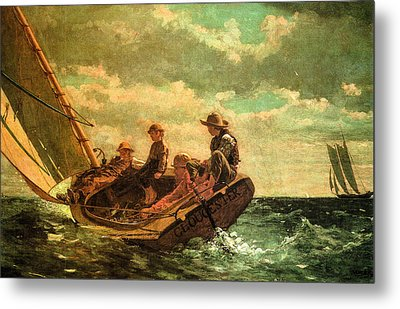 Breezing Up Metal Print by Winslow Homer