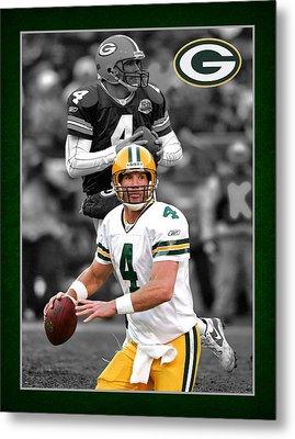 Brett Favre Packers Metal Print by Joe Hamilton