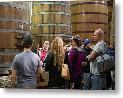 Brewery Tour Metal Print by Jim West